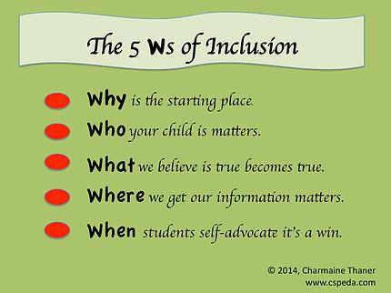 The 5 Ws of Inclusion
