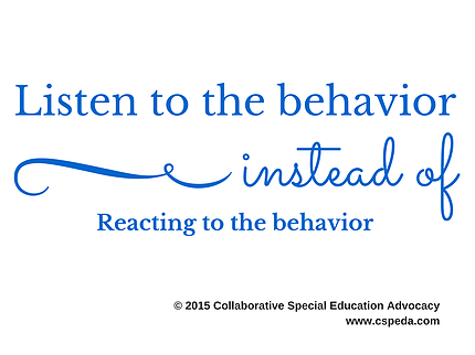 Listen to the Behavior