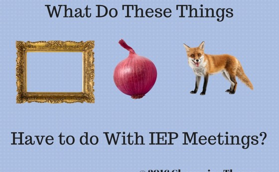 What Do These Things Have To Do With IEP Meetings?